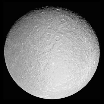 Saturn's icy moon Rhea