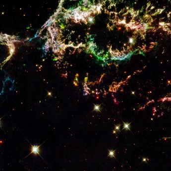 Colourful, Shredded Remains of Old Supernova